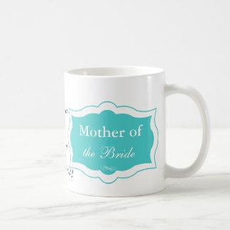 Madre de la turquesa de la taza de la novia
