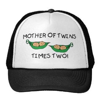Madre de la vaina de los gemelos 2X Gorros
