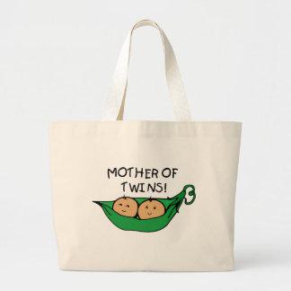 Madre de la vaina de los gemelos bolsa de mano