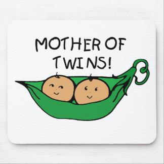 Madre de la vaina de los gemelos alfombrillas de ratones