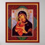 Madre de la Virgen de Vladimir Poster