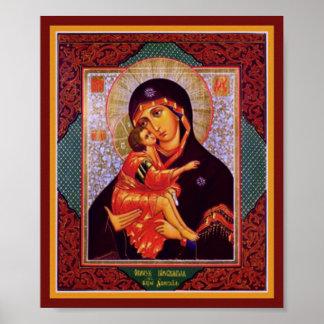 Madre de la Virgen de Vladimir Póster