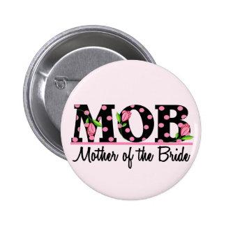 Madre de las letras del tulipán de la novia (MOD) Pin Redondo 5 Cm