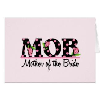 Madre de las letras del tulipán de la novia (MOD) Tarjeta De Felicitación
