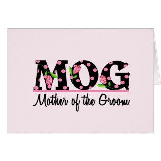 Madre de las letras del tulipán del novio (MOG) Tarjeta De Felicitación