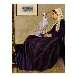 Madre de las marmotas - galgo italiano 5 postal