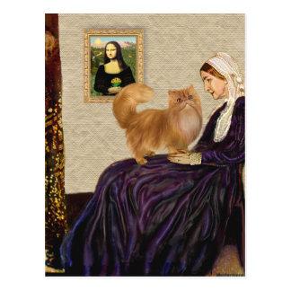 Madre de las marmotas - gato persa rojo postal