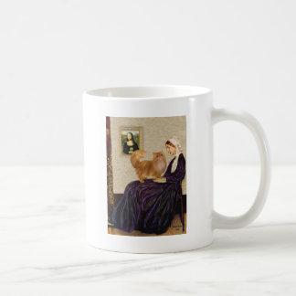 Madre de las marmotas - gato persa rojo taza de café