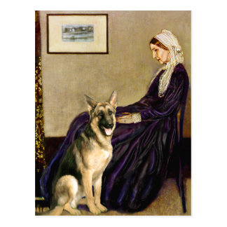 Madre de las marmotas - pastor alemán 2 tarjeta postal
