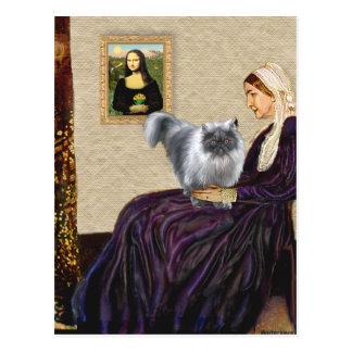 Madre de las marmotas - persa azul del humo postal