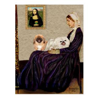 Madre de las marmotas - TwoPekingese Tarjetas Postales