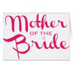 Madre de las rosas fuertes de la novia en blanco tarjeta de felicitación