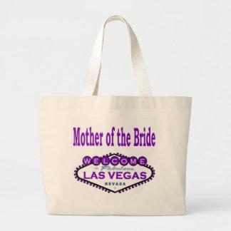 Madre de Las Vegas del bolso clásico púrpura de la Bolsa Tela Grande