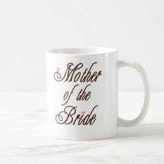 Madre de los marrones con clase de la novia taza clásica