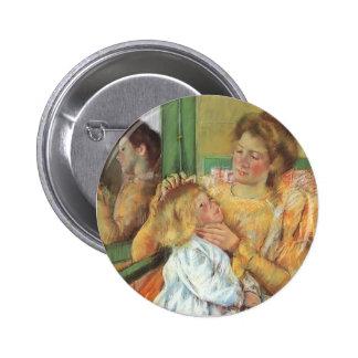 Madre de Maria Cassatt- que peina el pelo de su ni Pin