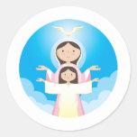 Madre de Maria de dios Etiqueta Redonda