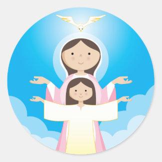 Madre de Maria de dios Pegatinas Redondas