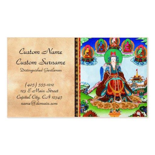 Madre de oro del thangka tibetano oriental fresco tarjetas de visita