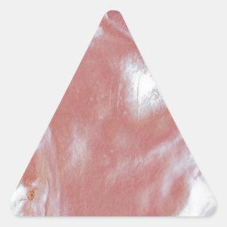 Madre de Perla-Rosado Calcomania Triangulo Personalizadas
