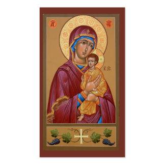 Madre de Pimen de la tarjeta del Mini-Rezo de dios Plantilla De Tarjeta De Visita