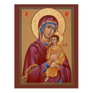 Madre de Pimen de la tarjeta del rezo de dios Postal