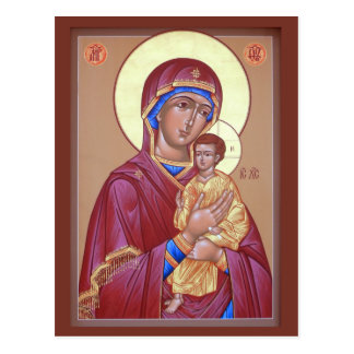 Madre de Pimen de la tarjeta del rezo de dios Postales