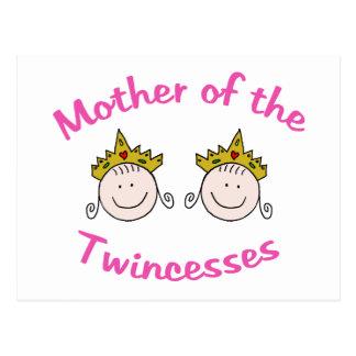 Madre de Twincess Tarjetas Postales