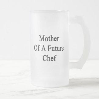 Madre de un cocinero futuro taza cristal mate