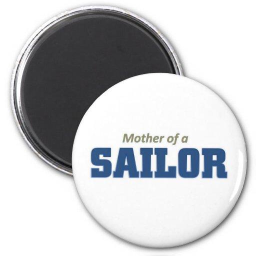Madre de un marinero imán redondo 5 cm