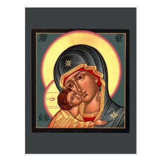 Madre de Vladimir de la tarjeta del rezo de dios Postal
