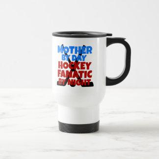 Madre del amante del hockey tazas de café