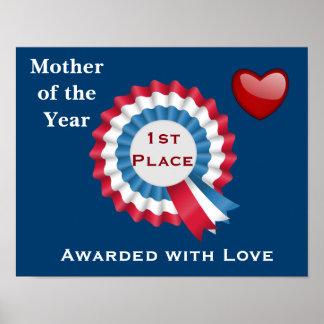 Madre del año - 1r premio del lugar póster