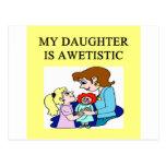 madre del autismo de la hija autística postal