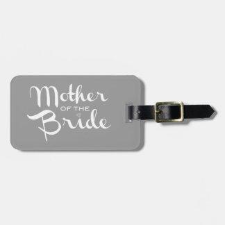 Madre del blanco retro de la escritura de la novia etiquetas para maletas
