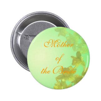 madre del boda del botón de la novia, pin redondo de 2 pulgadas