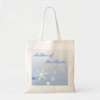 Madre del boda del invierno de la novia bolsas lienzo