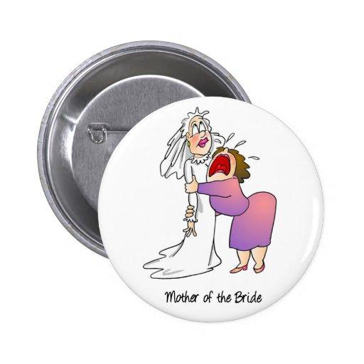 Madre del botón de la novia pin redondo de 2 pulgadas