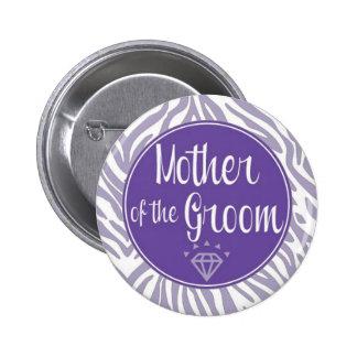 Madre del botón del novio pin