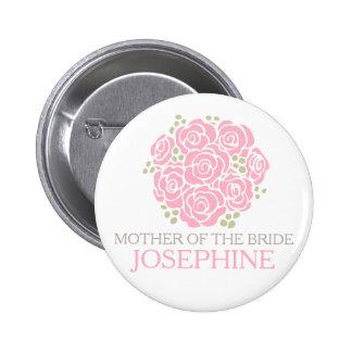 Madre del botón del perno del boda del ramillete pin redondo de 2 pulgadas
