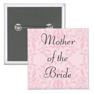 Madre del botón del rosa de la novia pins