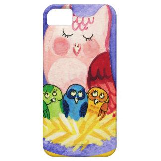 Madre del búho de tríos iPhone 5 carcasas