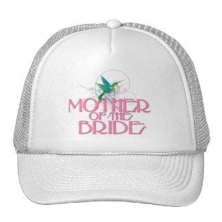 Madre del colibrí de la novia gorros bordados
