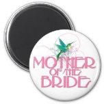 Madre del colibrí de la novia imán de frigorifico