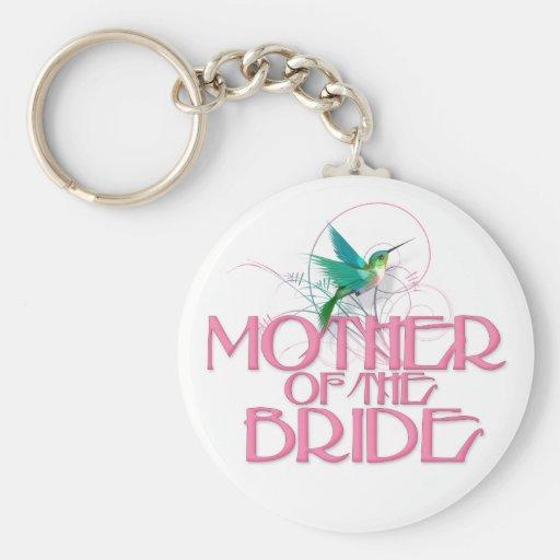 Madre del colibrí de la novia llaveros personalizados