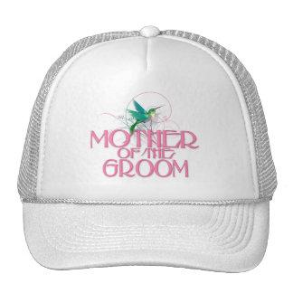 Madre del colibrí del novio gorras de camionero