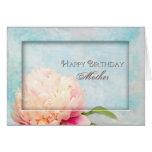 Madre del cumpleaños - Peony (floral) Tarjeta De Felicitación