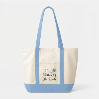 Madre del día de boda de la bolsa de asas del azul
