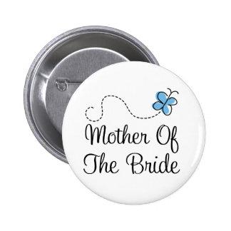 Madre del día de boda del botón del azul de la nov pins