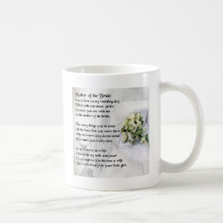Madre del diseño del ramo   del boda del poema de taza clásica