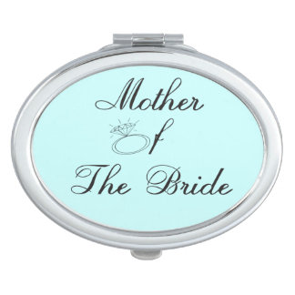 Madre del espejo del acuerdo de la novia espejos de viaje